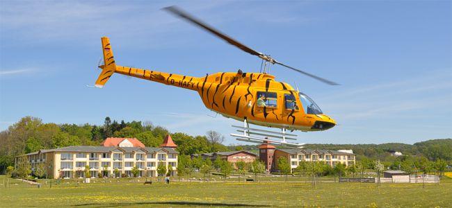 Rügen-Urlaub und Kreidefelsen-Rundflug mit Hubschrauber