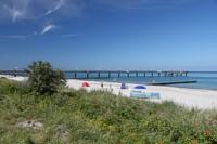 Seebrücke und Strand in Heiligendamm